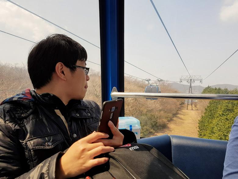 前往港口的空中纜車