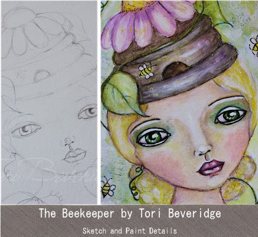 The Beekeeper by Tori Beveridge 2015 Sketch and Painting Details