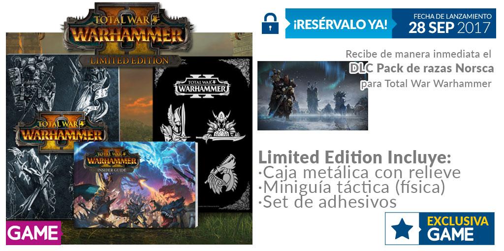 Total War Warhammer II cuenta con edición limitada exclusiva de GAME y regalo por reserva