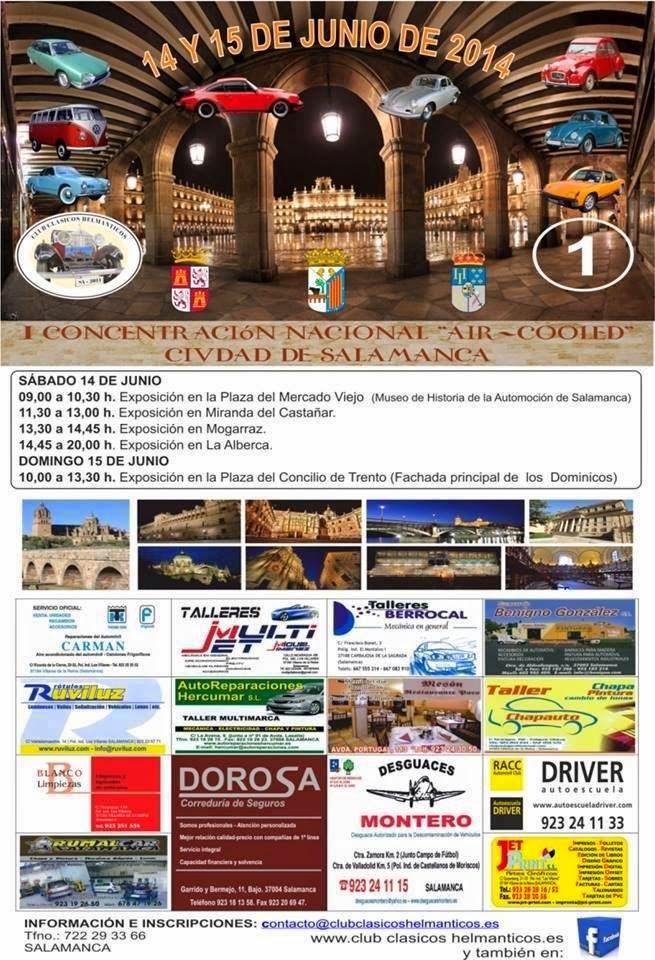 """14/Junio. I Concentración Nacional de coches clásicos """"Air-Cooled"""". Miranda del Castañar"""