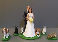 cake topper personalizzato cani e gatti cavalier king charles spaniel statuine orme magiche