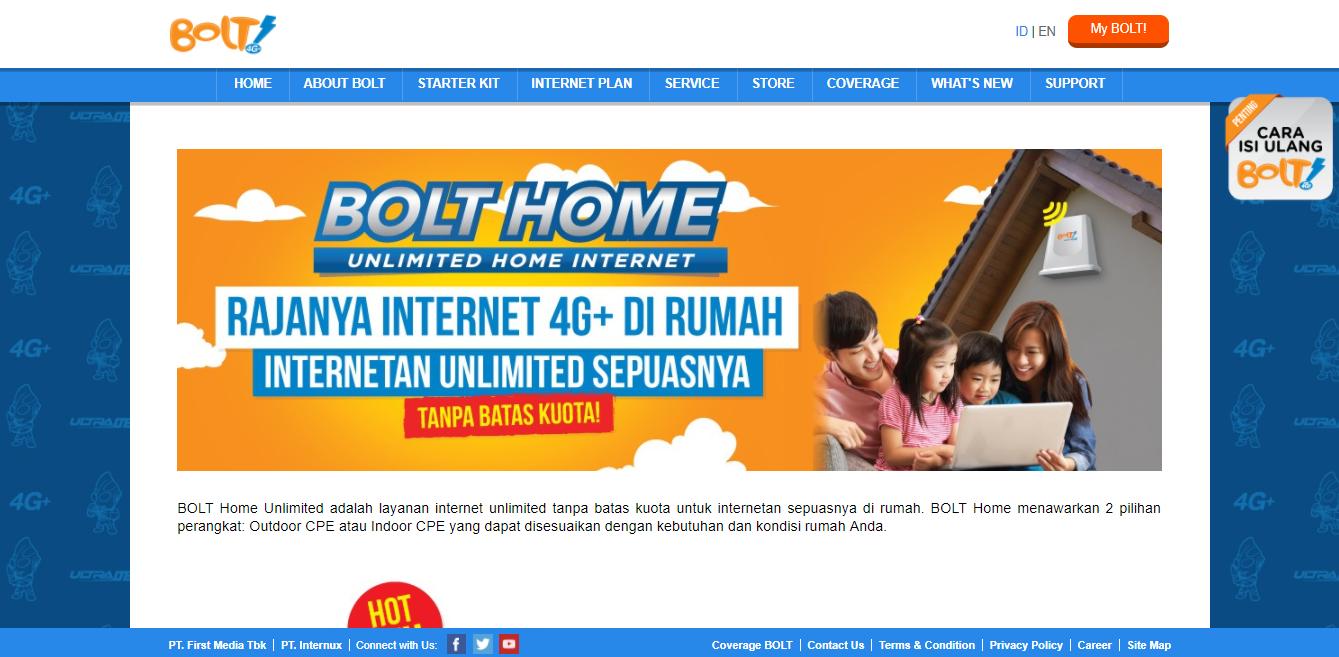 Cara Daftar Dan Pasang Internet Bolt Home Unlimited Kartu Buka Website Resmi