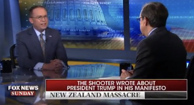 Watch WH Chief of Staff Mick Mulvaney DESTROYS Shameless Hack Chris Wallace for Editing Shooter's Words to Falsely Indict Trump (VIDEO)