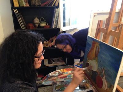 Les retrouvailles des artistes de l'atelier Artemisia 8