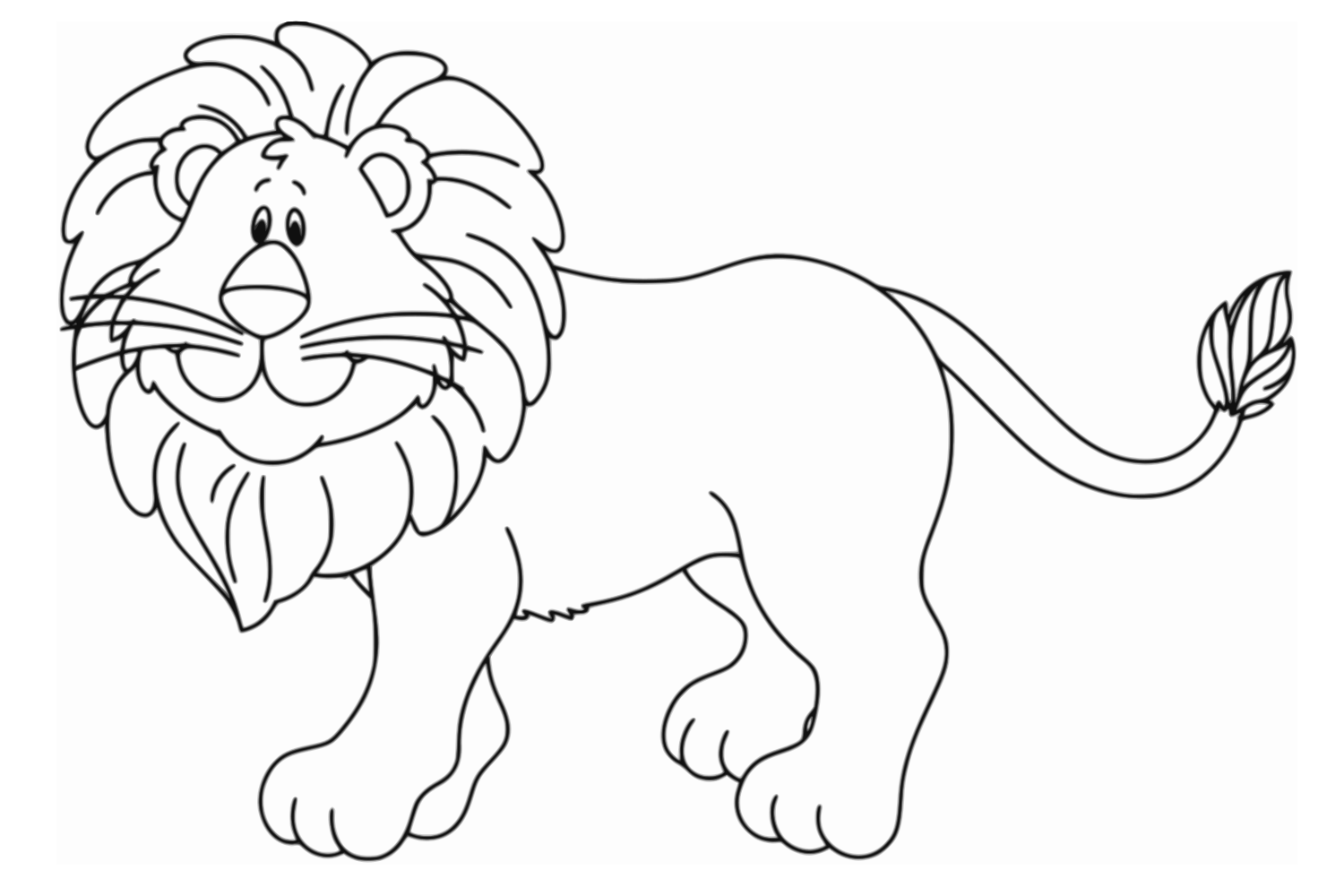 Early Education Coloring Lion Pictures