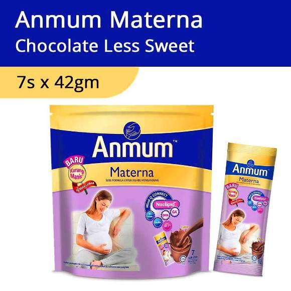 Anmum Materna Chocolate Less Sweet - 7s x 42gm