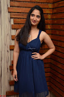 Radhika Mehrotra in a Deep neck Sleeveless Blue Dress at Mirchi Music Awards South 2017 ~  Exclusive Celebrities Galleries 052.jpg