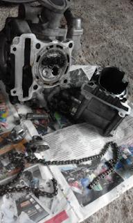 Gambar kesan timing chain putus pada enjin