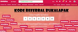 Cara Memasukkan Kode Referral Bukalapak Terbaru dan Contohnya