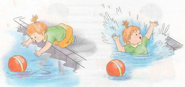 Acercarse a la piscina