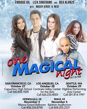 One Magical Night concert tour with LizQuen and Bea Alonzo'