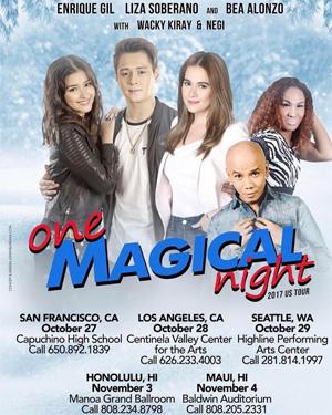 Lizquen One Magical Night Us Tour