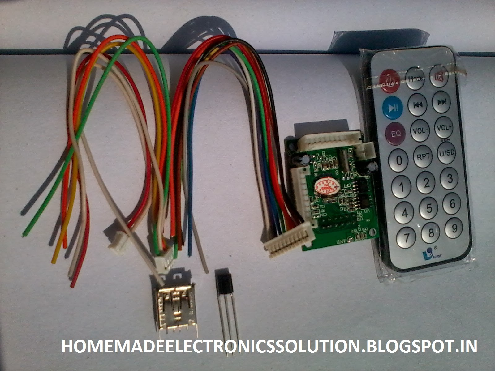 Digital Mp3 Usb Fm Kit Set Up Electronics Home Circuits Homemade Car Audio Amplifier Circuit And Explanation Electronic In This Are Completely Ready For Use Just Want A Regulated 5 Volt Power Supply