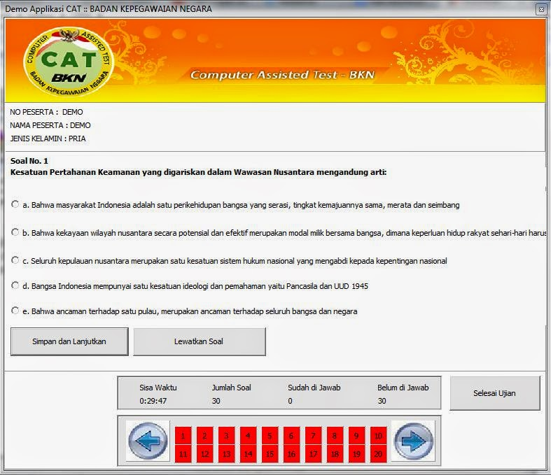 Download Gratis Software Soal Cpns Latihan Sistem Cat 2016