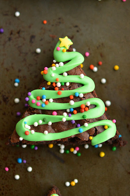 Brownies Χριστουγεννιάτικα Δέντρα