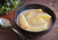 banana cozida leite coco