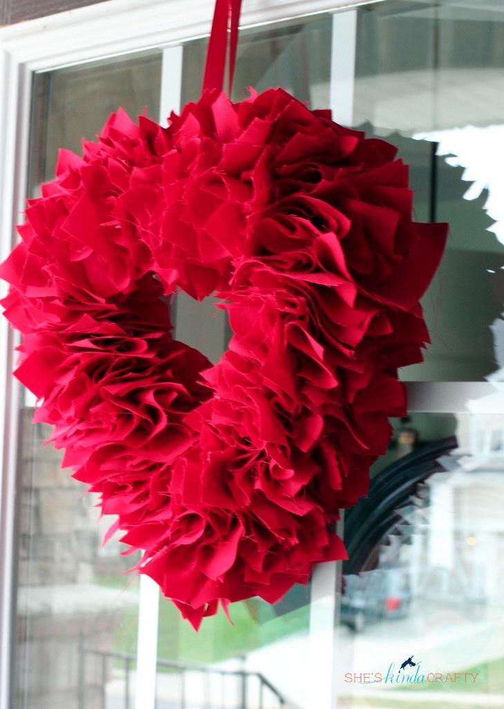 Our Unexpected Journey Monogram WreathFor Valentines - valentine craftf