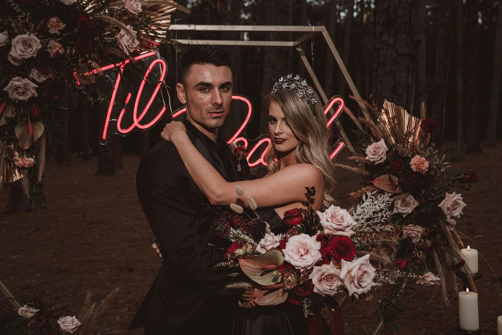 sawyers photography newcastle dark moody lush weddings floral designer australian bridal