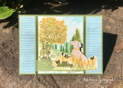 Andrea Sargent, Independent Stampin Up Demonstrator, South Australia, Happy Tails, Peaceful Place, Watercolour