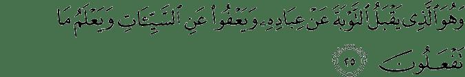Surat Asy-Syura ayat 25
