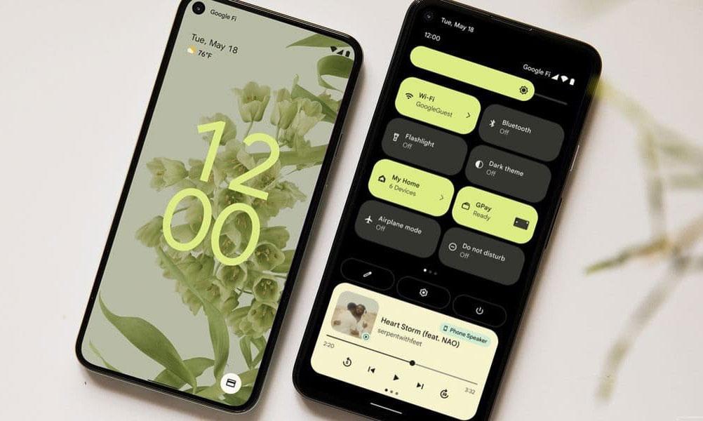 Tampilan UI Android 12