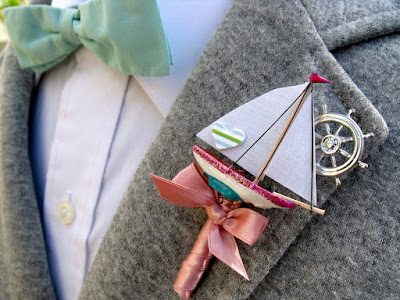 sailboat boutonniere idea - wedding planning