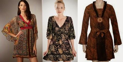 model baju batik terusan wanita gemuk
