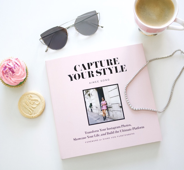 Song of Style's Capture Your Style Book, Gentle Monster Sunnies, coffee, Cupcake, necklace