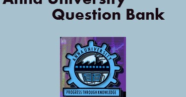 Regulation 2017 3rd Semester Question Bank with Answers PDF Anna