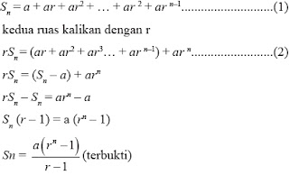 Perbedaan deret aritmetika dan deret geometri