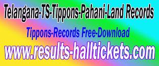 Telangana-TS-Tippons-Pahani-Land Records Tippons-Records Free-Download Mabhoomi-telangana
