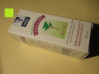 Verpackung: BADERs Teebaumöl AMAX MA-100, 30 ml