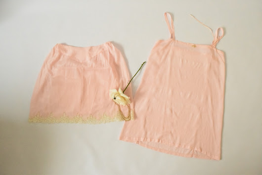 silk camisole and tap pants c 1930's - 1940's