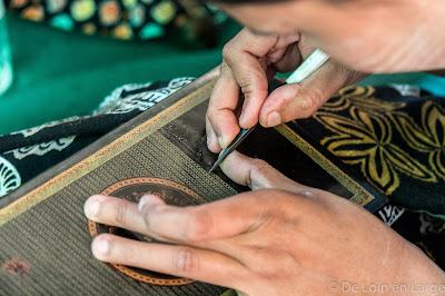 Travail de la laque - Bagan - Mingkaba village