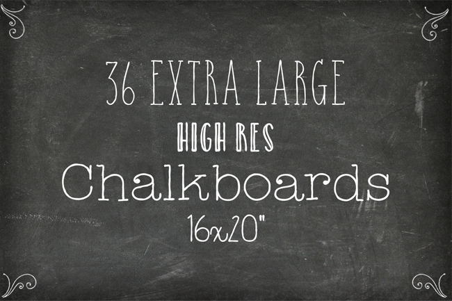 6 packs de fonds - 36 Chalkboard Backgrounds XL Edition par Studio Denmark