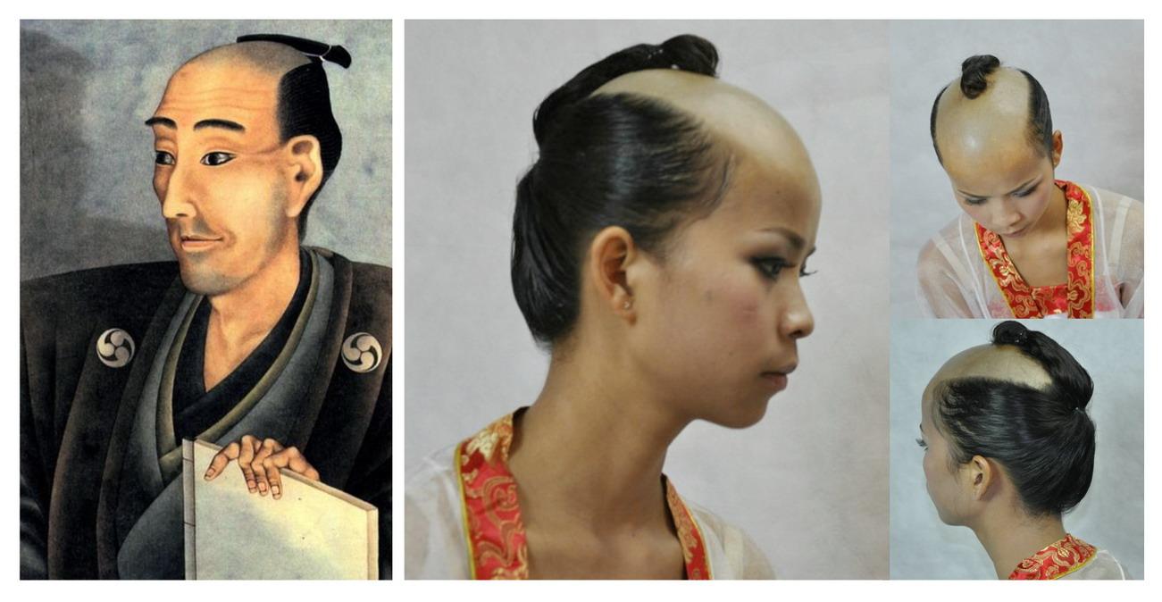 Bald & Short Hair Girls: OLD JAPANESE HAIRSTYLE