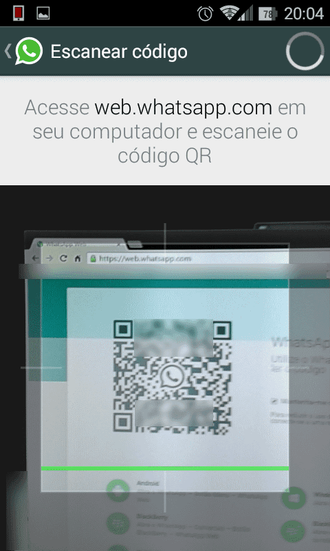 WhatsApp Web - Escaneando codigo