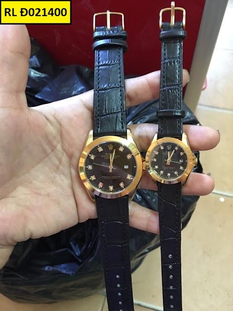 Đồng hồ cặp đôi dây da RL Đ021400