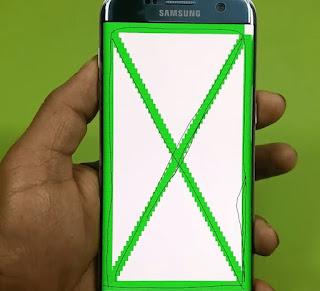 Test layar sentuh menggunakan kode rahasia