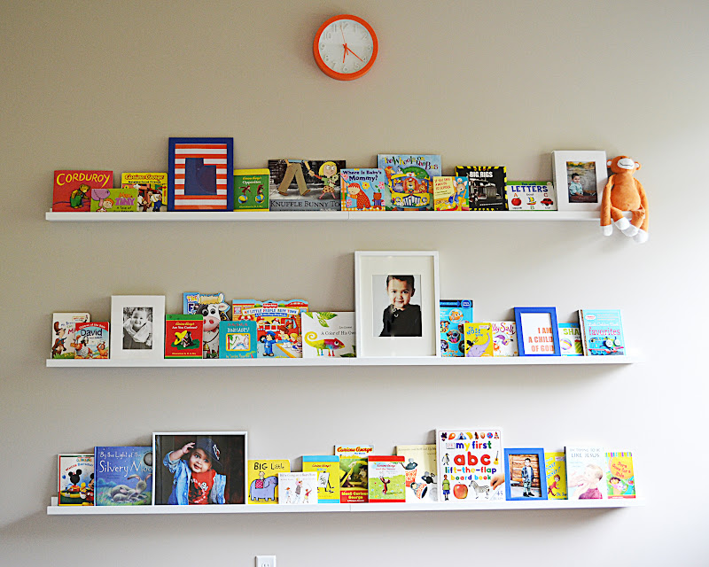 Ikea Ribba Picture Ledge turned Book Shelf - Sita ...