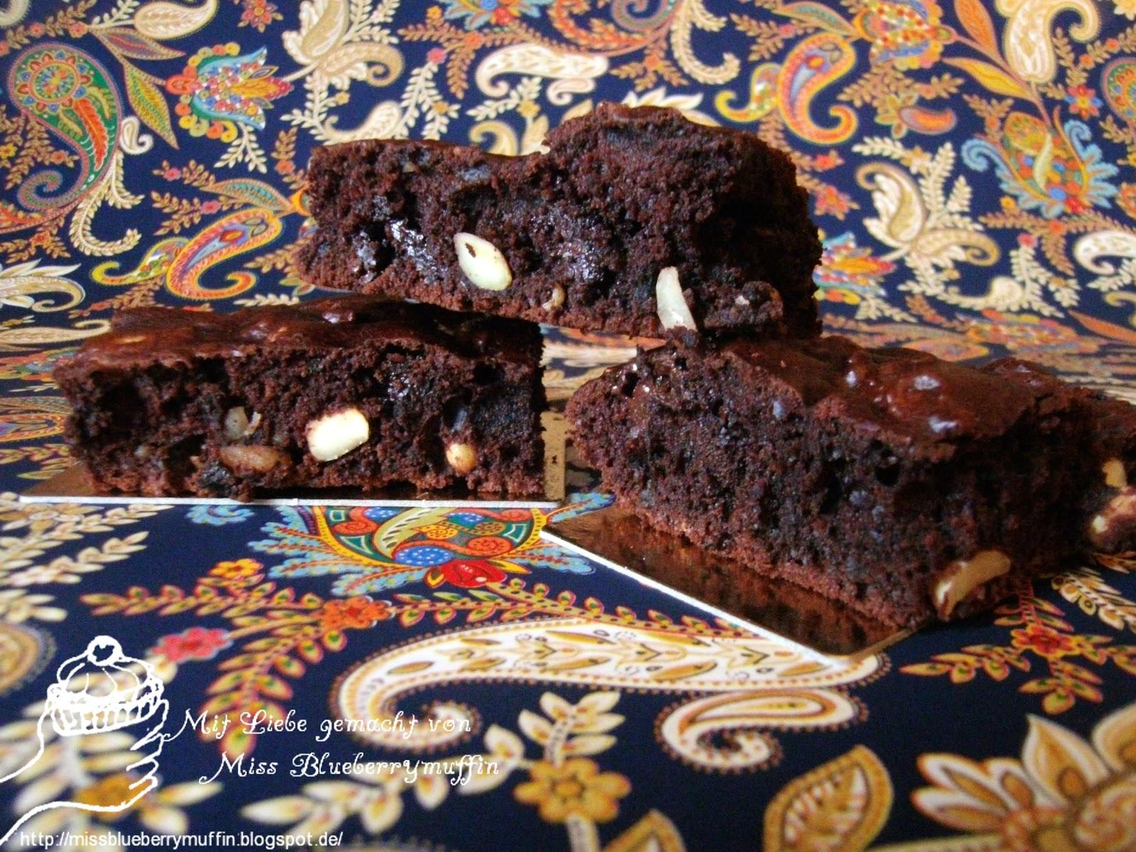 Miss Blueberrymuffins Kitchen Vegan Weekend Schoko Nuss Brownies