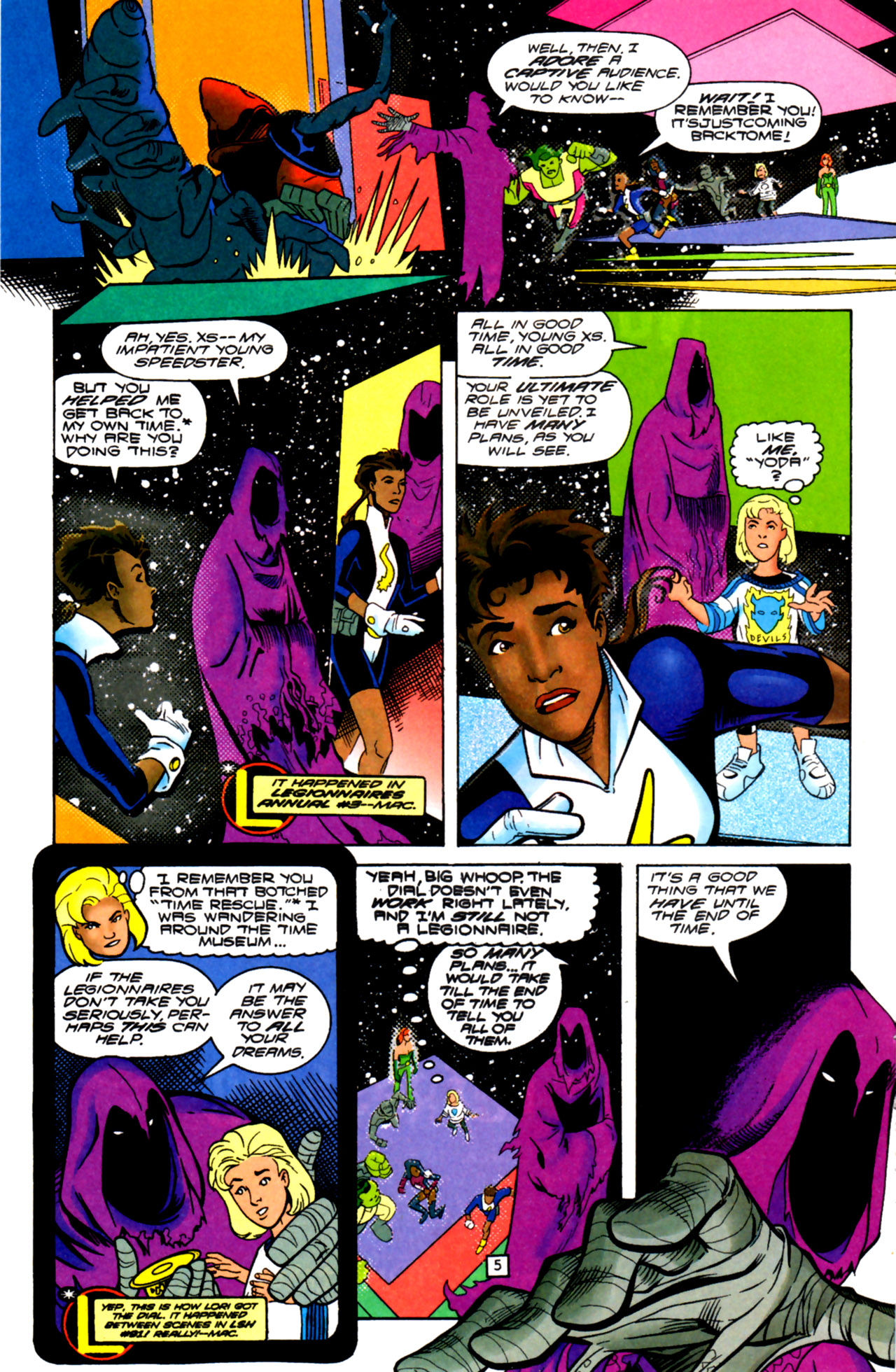 Legion of Super-Heroes (1989) 105 Page 4