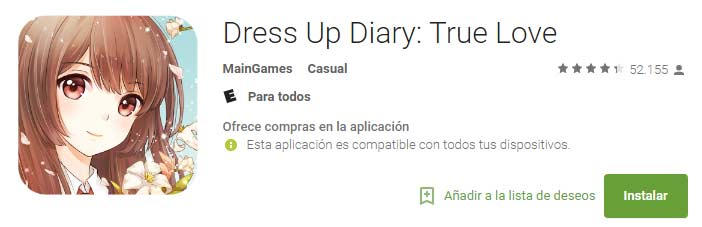dress up diary true love