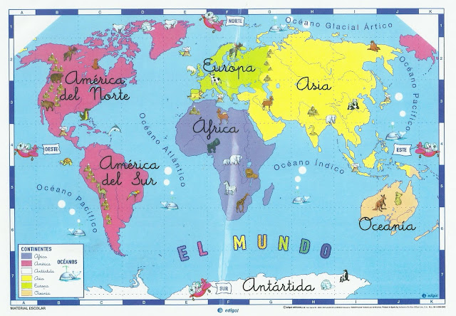 mapamundi niños