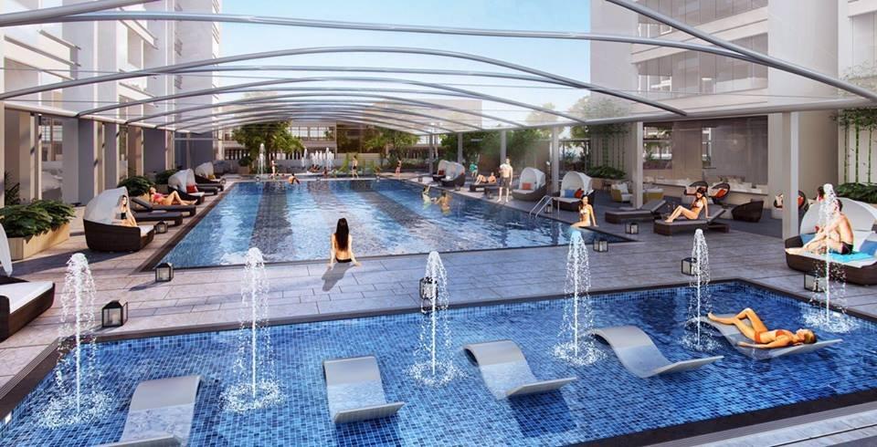 Bể bơi bốn mùa tại chung cư The Emerald Mỹ Đình