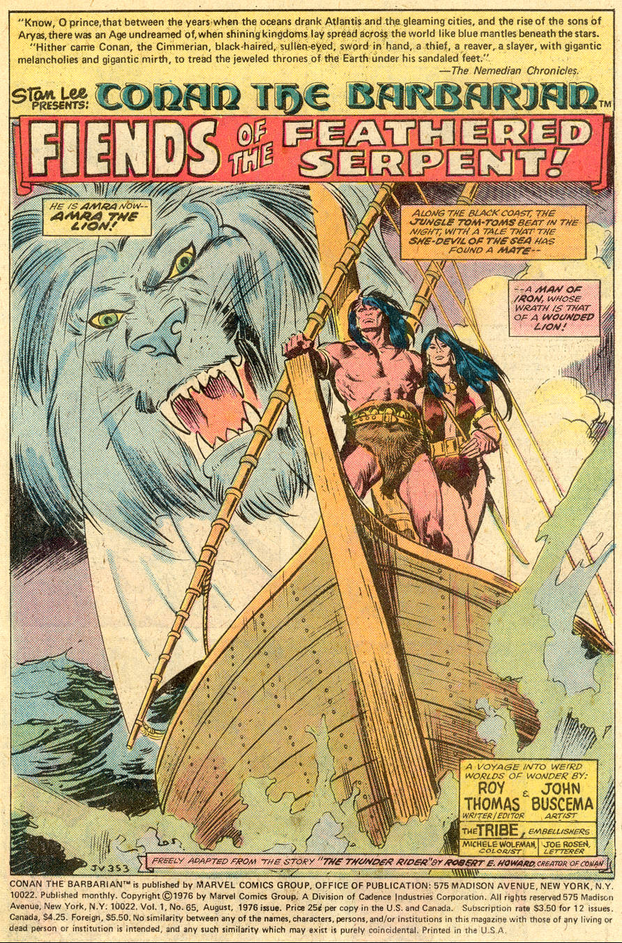 Conan the Barbarian (1970) Issue #65 #77 - English 2