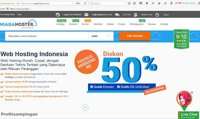 Niagahoster Tempat Beli Domain dan Hosting Berkualitas Yang Anti Ads Inject