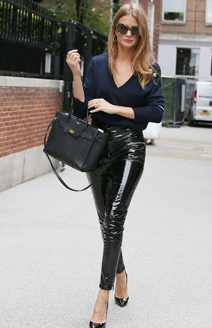 Millie Mackintosh in PVC pants