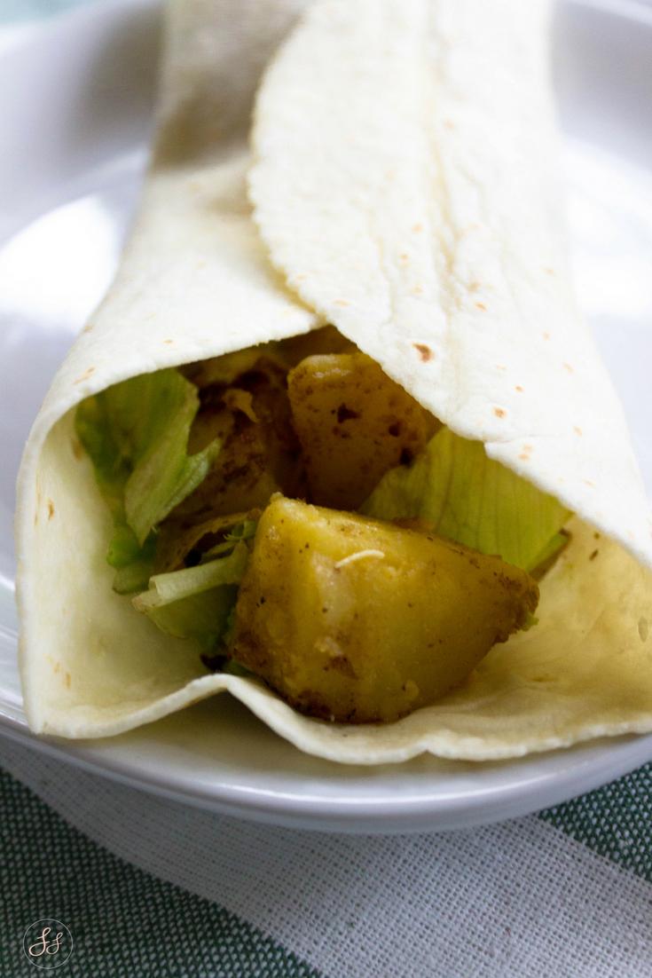 Crispy Potato Tacos. Gluten Free and Vegan