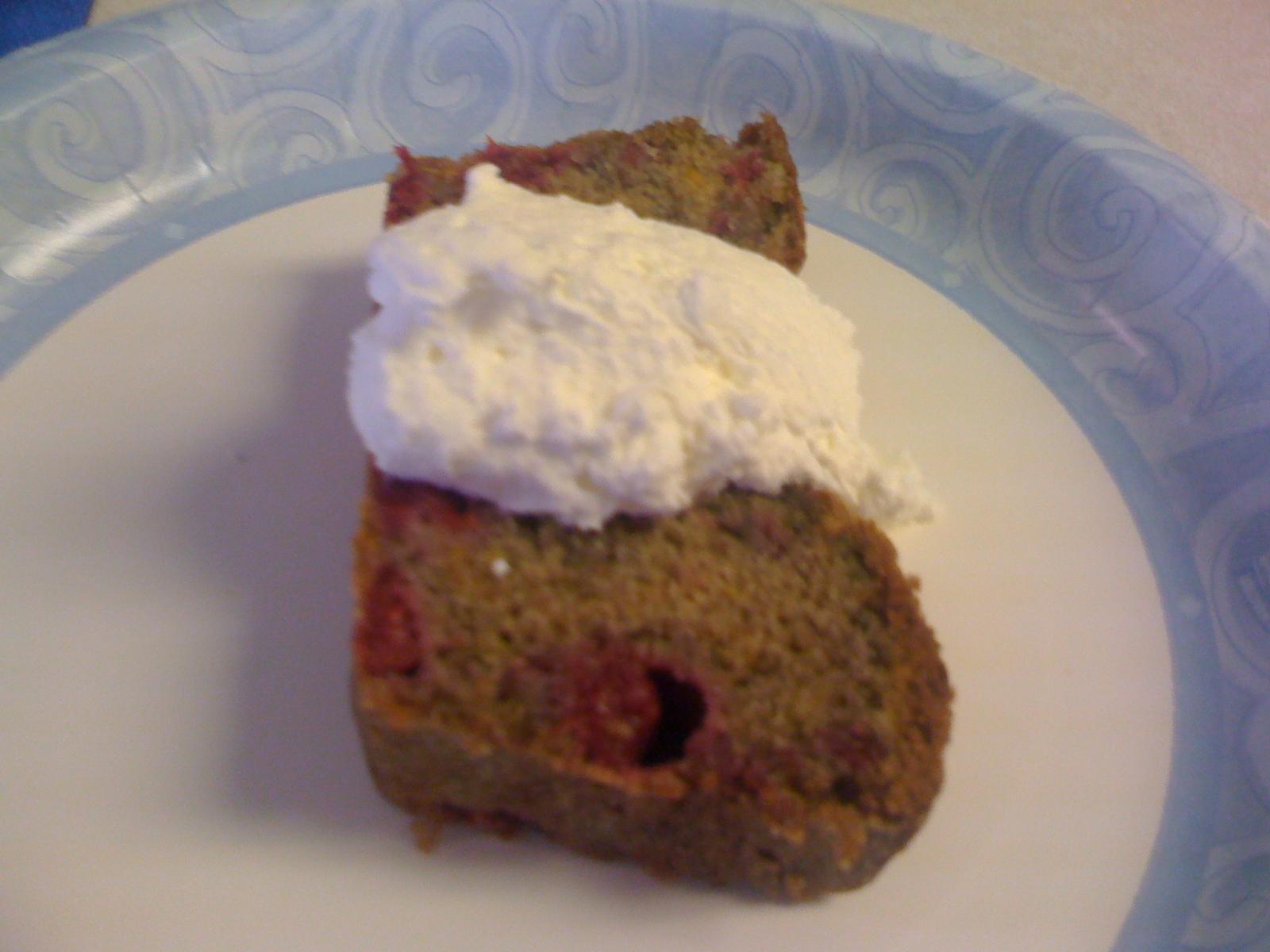 Raspberry Pound Cake With Vin Santo Cream